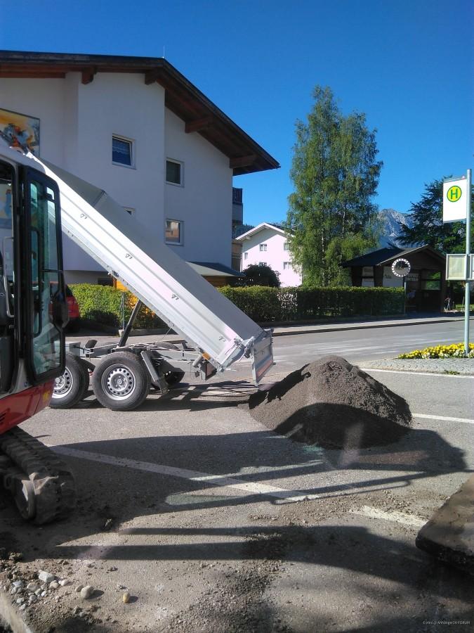 Sand für Gasleitung liefern