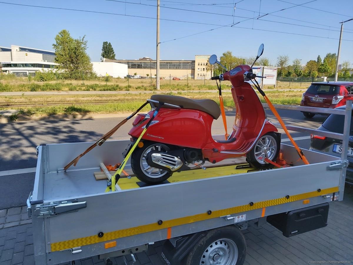 Gestell für Motorradtransport