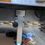 Heckstütze montiert in niedriger Position