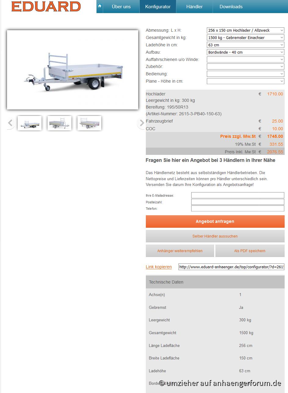 Eduard Screeshot Homepage