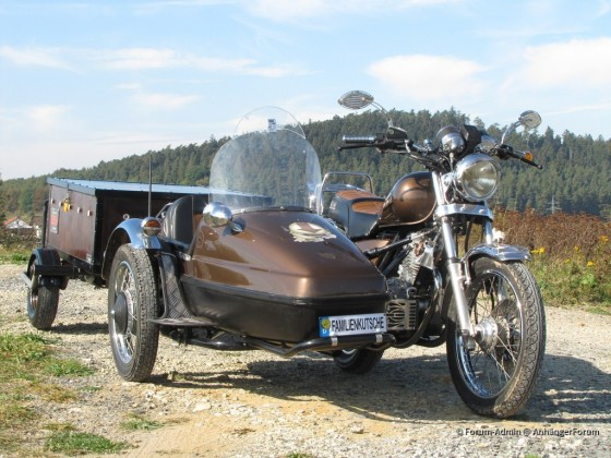 Motorrad + Beiwagen + Anhänger Westfalia 121002