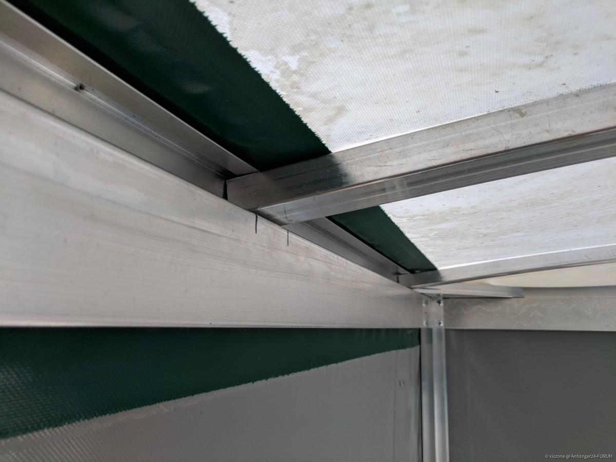 Planengestell gebogene Dachstreben