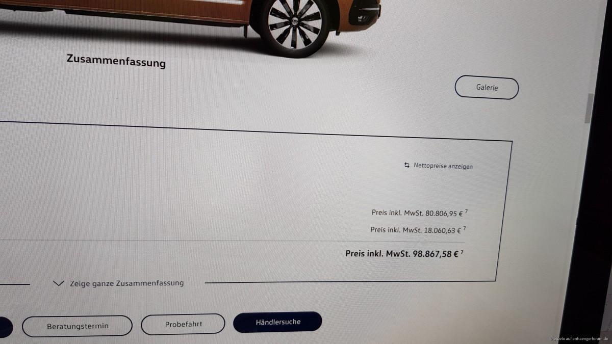 Konfigurator für VW Multivan